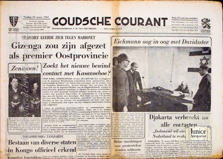 Krant geboortedag Goudsche Courant (22-07-1971), een mooi cadeau voor jubileum of verjaardag