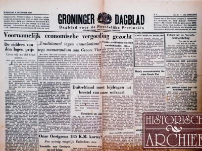 Groninger Dagblad krant geboortedag als jubileumscadeau