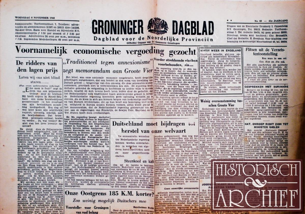 krant geboortedag titel Groninger Dagblad