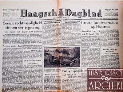 Haagsch Dagblad krant geboortedag als jubileumscadeau