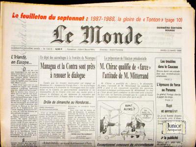 Krant geboortedag  Le Monde (27-04-1972)