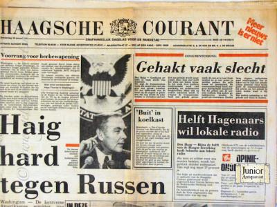 Haagsche courant krant geboortedag als jubileumscadeau