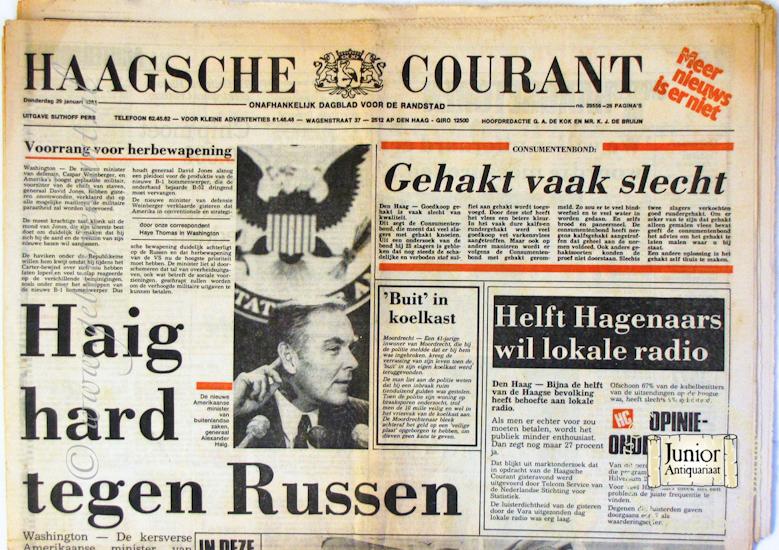 krant geboortedag titel Haagsche courant