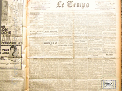 Le Temps krant geboortedag als jubileumscadeau
