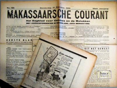 Makassaarsche courant krant geboortedag als jubileumscadeau