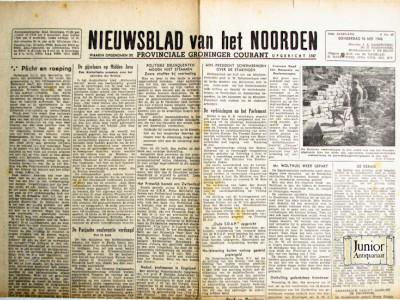 Krant geboortedag  Nieuwsblad van het Noorden (27-04-1972)