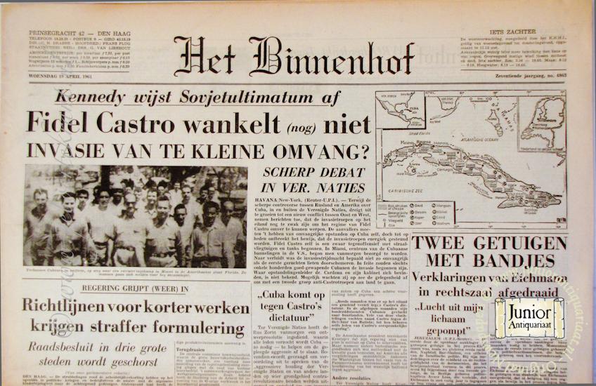 Krant geboortedag Het Binnenhof (22-07-1971), een mooi cadeau voor jubileum of verjaardag