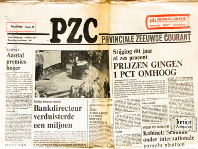 PZC - Provinciale Zeeuwse Courant krant geboortedag als jubileumscadeau