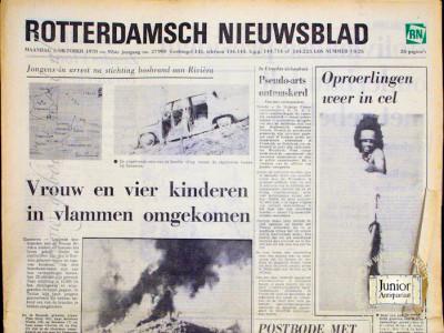 Rotterdams Nieuwsblad krant geboortedag als jubileumscadeau