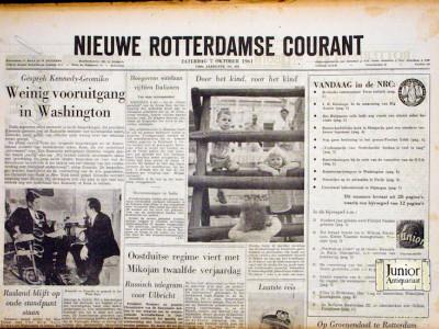 Rotterdamsche courant krant geboortedag als jubileumscadeau
