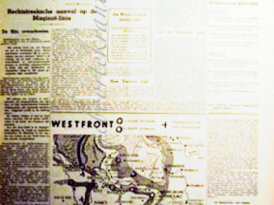 Leidsch dagblad krant geboortedag als jubileumscadeau