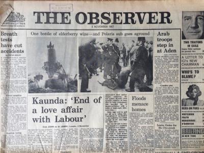 The Observer krant geboortedag als jubileumscadeau