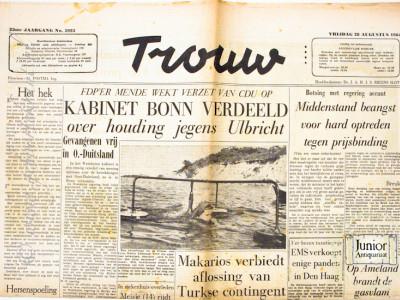 Krant geboortedag  Trouw (13-05-1972)