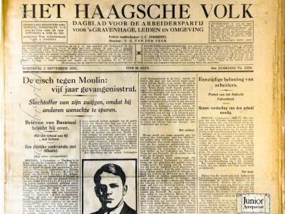 Het Haagsche Volk krant geboortedag als jubileumscadeau