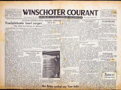 Krant geboortedag  Winschoter Courant (04-05-1972)