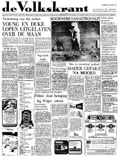 Voorpagina De Volkskrant 22-04-1972
