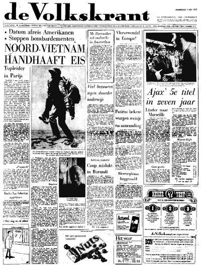 Voorpagina De Volkskrant 01-05-1972