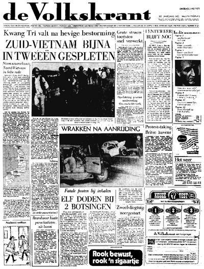 Voorpagina De Volkskrant 02-05-1972