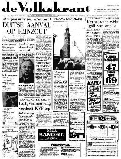 Voorpagina De Volkskrant 03-05-1972