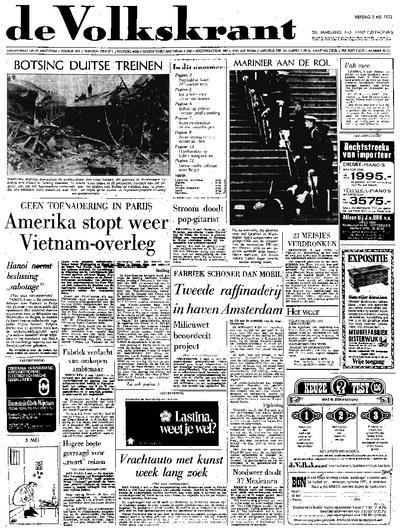 Voorpagina De Volkskrant 05-05-1972