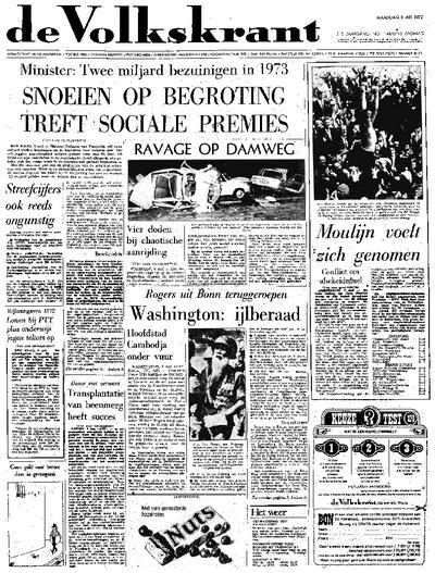 Voorpagina De Volkskrant 08-05-1972