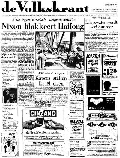 Voorpagina De Volkskrant 09-05-1972