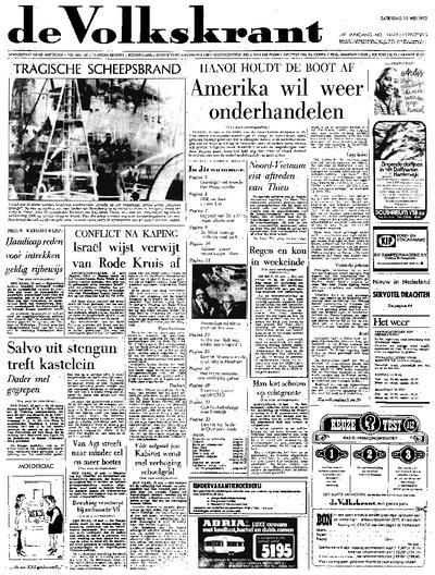Voorpagina De Volkskrant 13-05-1972
