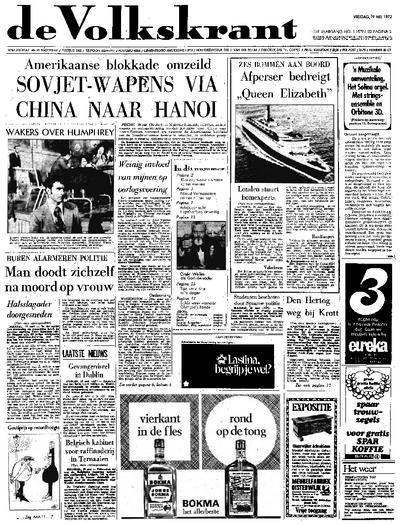 Voorpagina De Volkskrant 19-05-1972