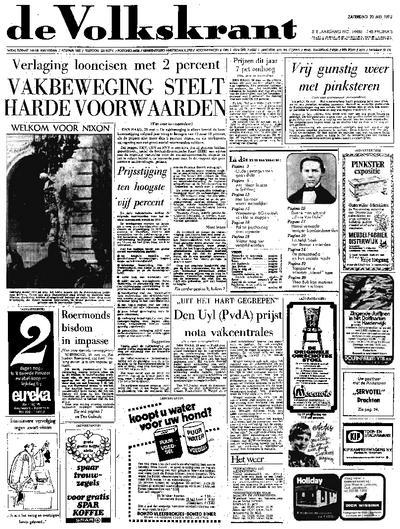 Voorpagina De Volkskrant 20-05-1972