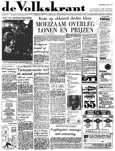 Voorpagina De Volkskrant 24-05-1972