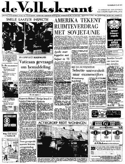 Voorpagina De Volkskrant 25-05-1972