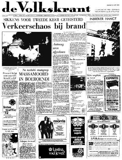Voorpagina De Volkskrant 26-05-1972