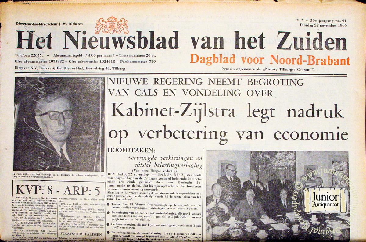 Krant geboortedag Het Nieuwsblad van het Zuiden (15-07-1929), een mooi cadeau voor jubileum of verjaardag