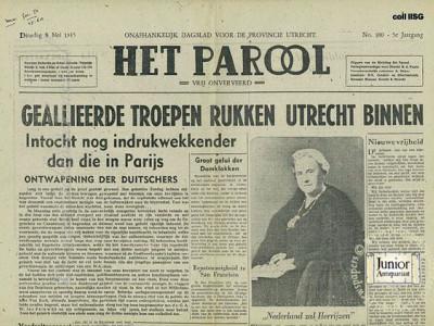 Het Parool krant geboortedag als jubileumscadeau