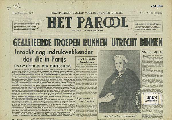 Krant geboortedag Het Parool (22-07-1971), een mooi cadeau voor jubileum of verjaardag