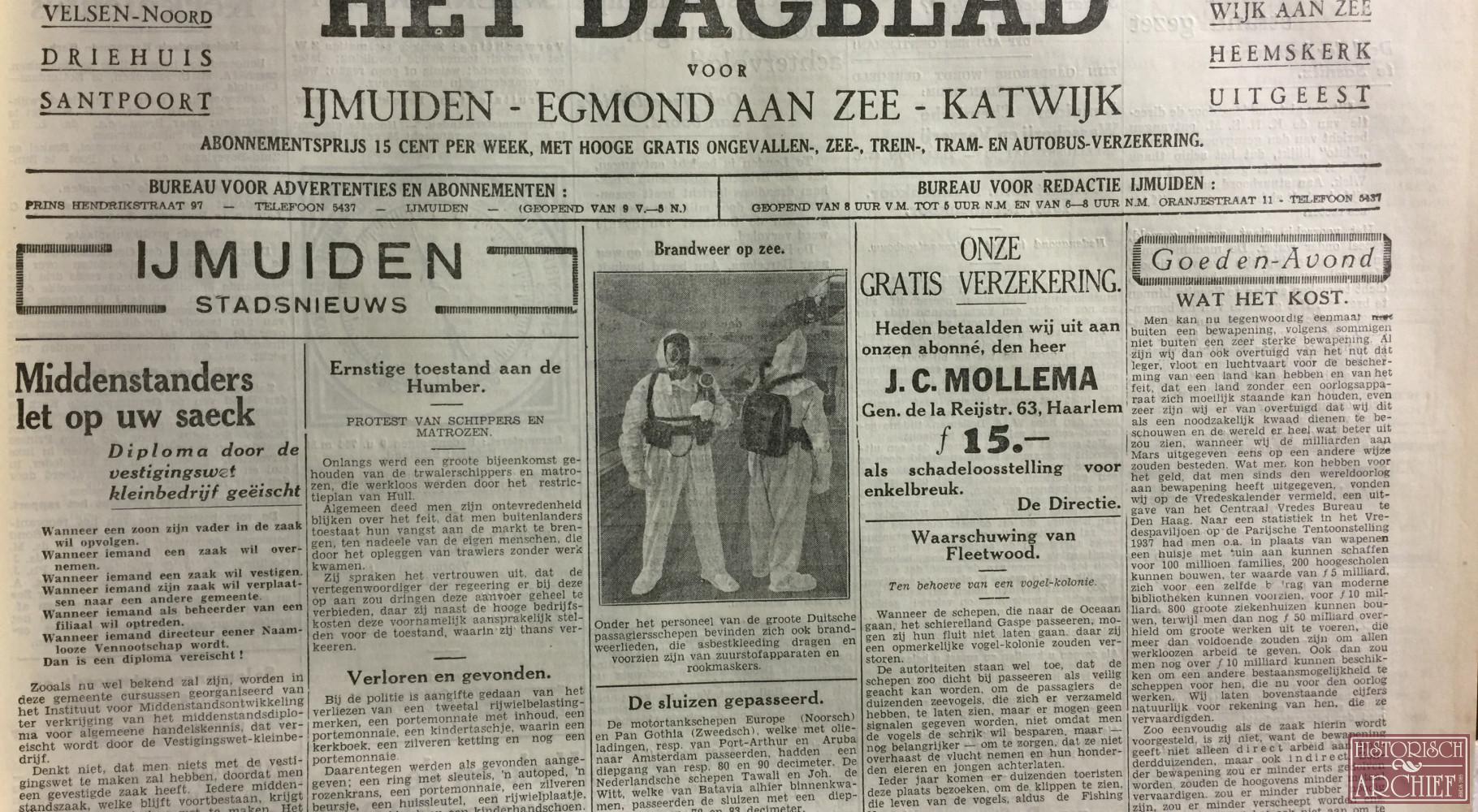 Het Dagblad voor IJmuiden Egmond aan Zee en Katwijk