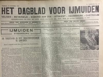 Het Dagblad voor IJmuiden Egmond aan Zee en Katwijk krant geboortedag als jubileumscadeau