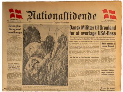 Nationaltidende Kopenhavn krant geboortedag als jubileumscadeau
