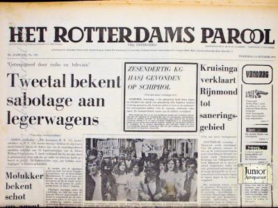 Het Rotterdamsch Parool krant geboortedag als jubileumscadeau