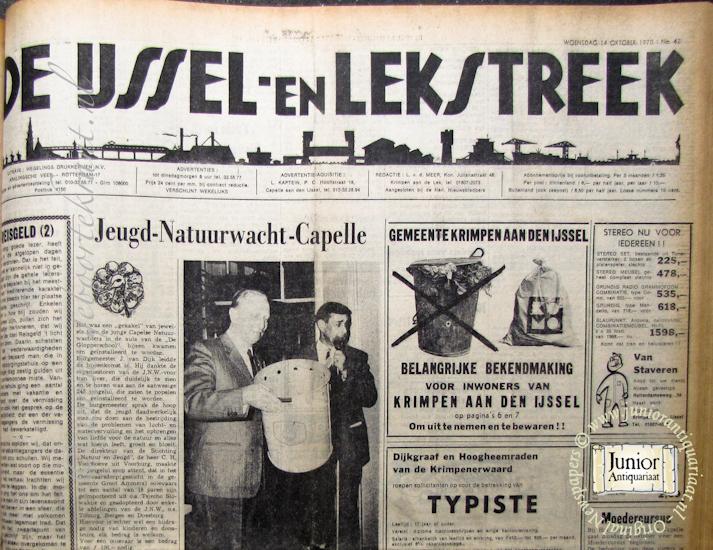 krant geboortedag titel IJssel en Lekstreek