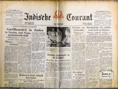 Indische courant krant geboortedag als jubileumscadeau