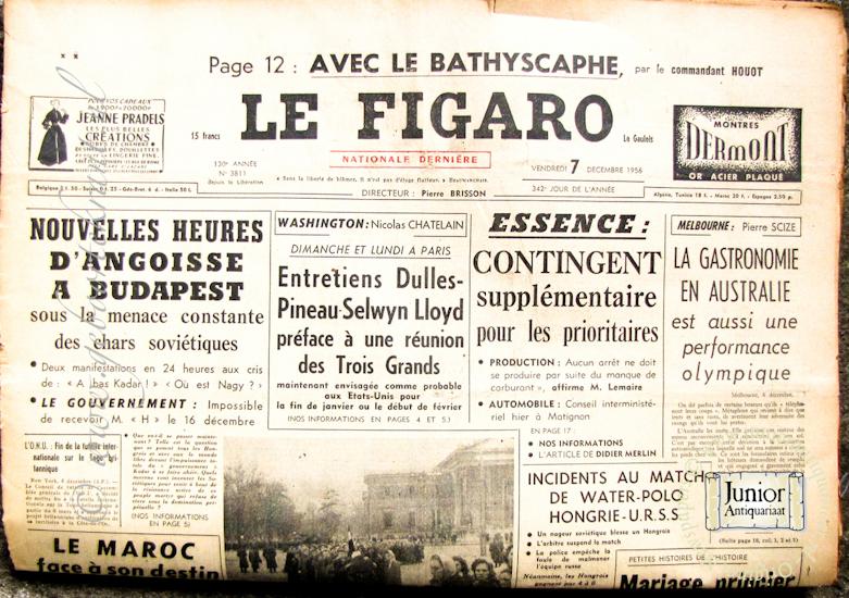 krant geboortedag titel Le Figaro