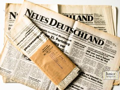 Neues Deutschland krant geboortedag als jubileumscadeau