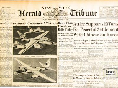 New York Herald Tribune krant geboortedag als jubileumscadeau