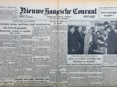 Nieuwe Haagsche Courant krant geboortedag als jubileumscadeau