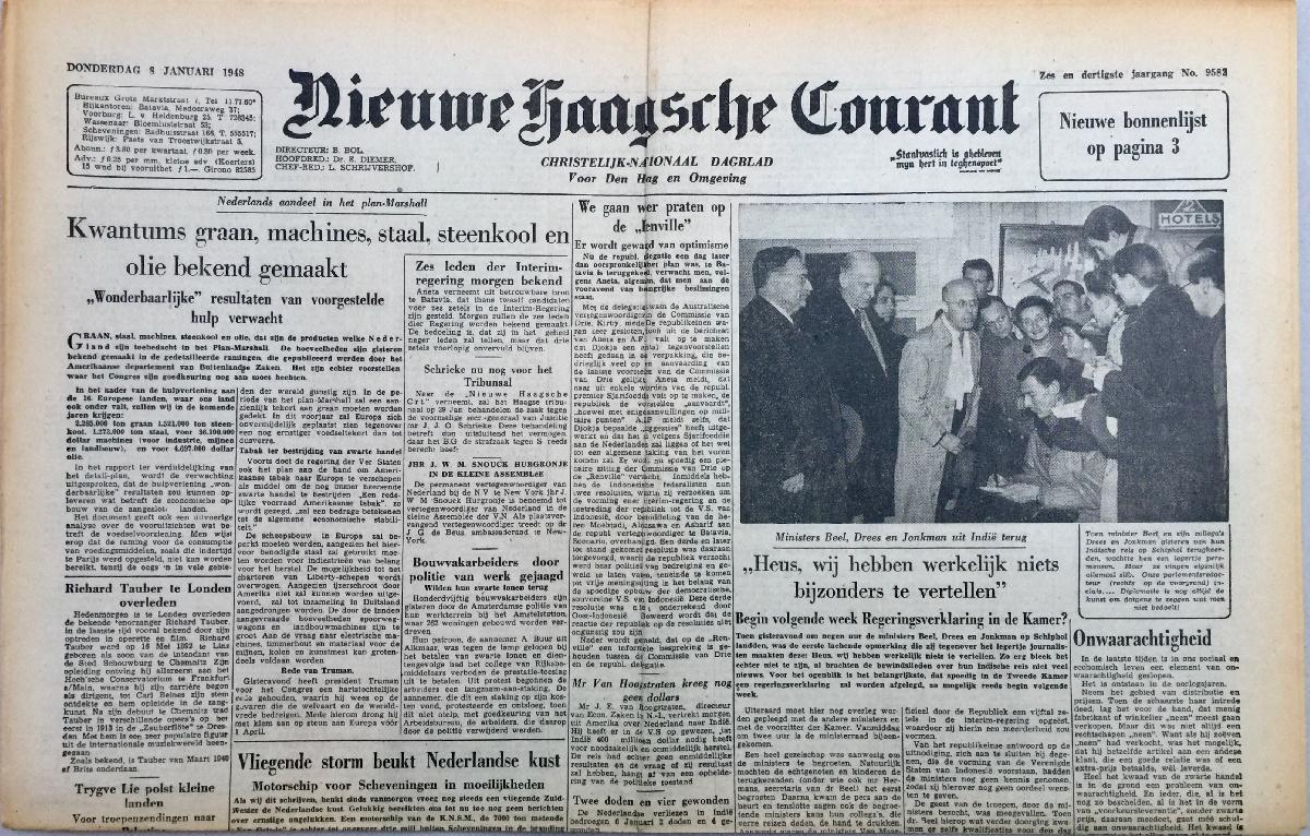 Krant geboortedag Nieuwe Haagsche Courant (22-07-1971), een mooi cadeau voor jubileum of verjaardag