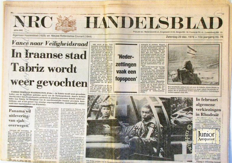 Krant geboortedag Nieuwe Rotterdamsche courant (25-11-1924), een mooi cadeau voor jubileum of verjaardag