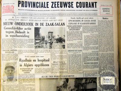 Krant geboortedag  Provinciale Zeeuwse courant (04-05-1972)