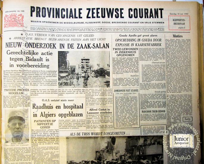 Krant geboortedag Provinciale Zeeuwse courant (22-07-1971), een mooi cadeau voor jubileum of verjaardag