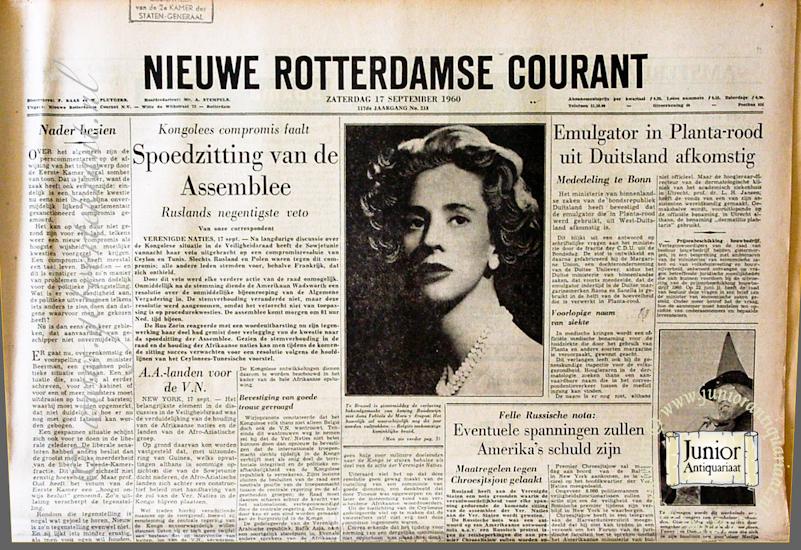 krant geboortedag titel Rotterdamsche courant